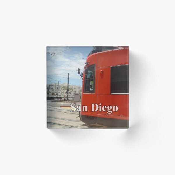 San Diego Red Mover Acrylic Block