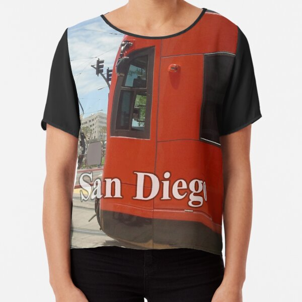 San Diego Red Mover Chiffon Top