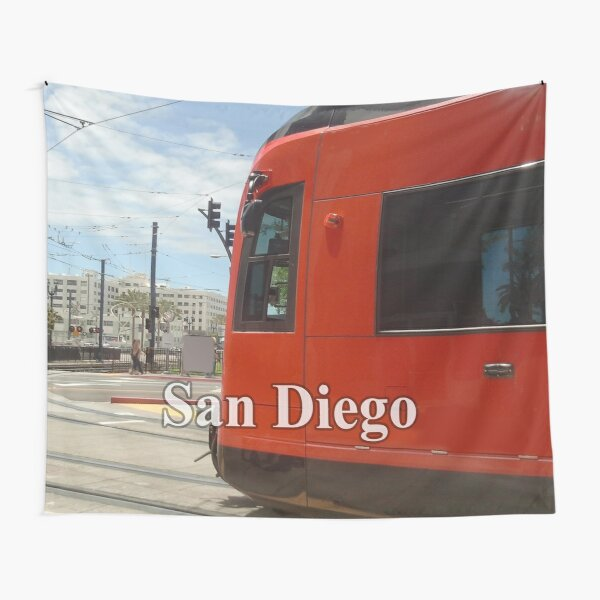 San Diego Red Mover Tapestry