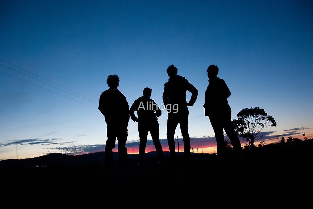 Tasmanian sunset by Alihogg