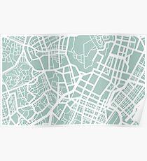 Minimal Maps - Tokyo J.P. Poster