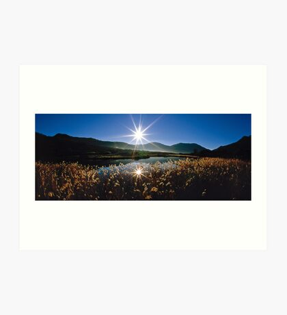 Tidal River Sunburst Art Print