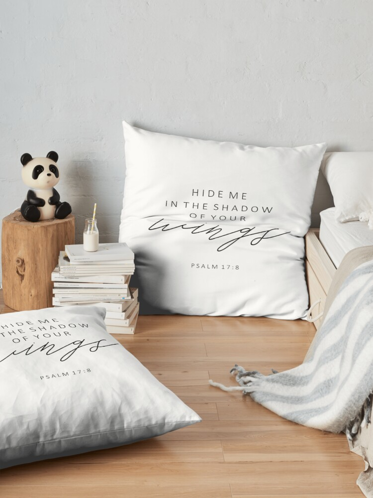 Alternate view of Christian Quote Psalm 17:8 Floor Pillow