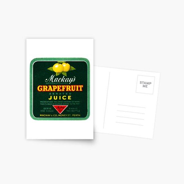 Mackay's Grapefruit Aerated Juice State Library of Western Australia Postcard