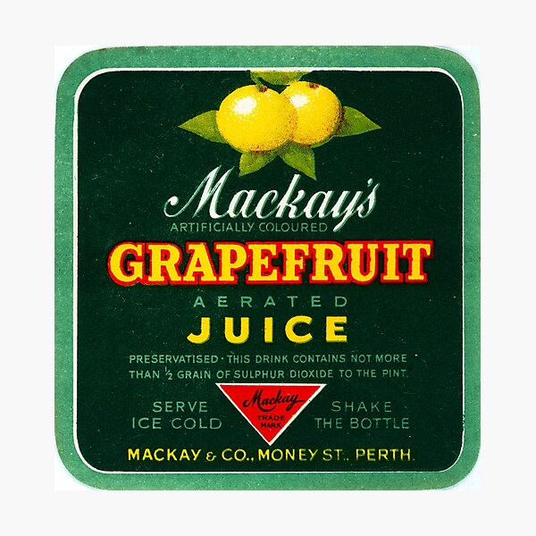Mackay's Grapefruit Aerated Juice State Library of Western Australia Photographic Print