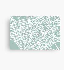 Minimal Maps - London U.K Canvas Print