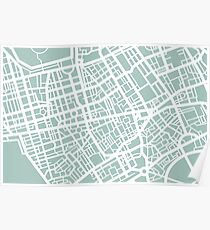 Minimal Maps - London U.K Poster