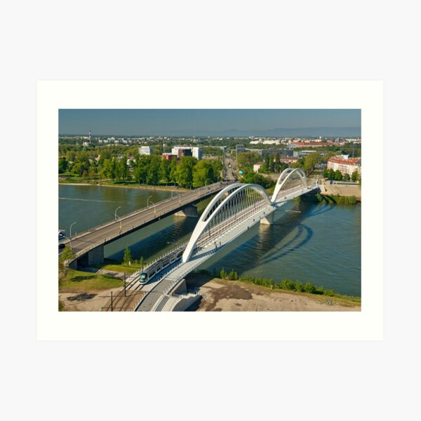 Ponts sur le Rhin à Strasbourg Impression artistique