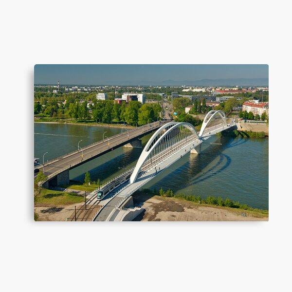 Ponts sur le Rhin à Strasbourg Impression sur toile