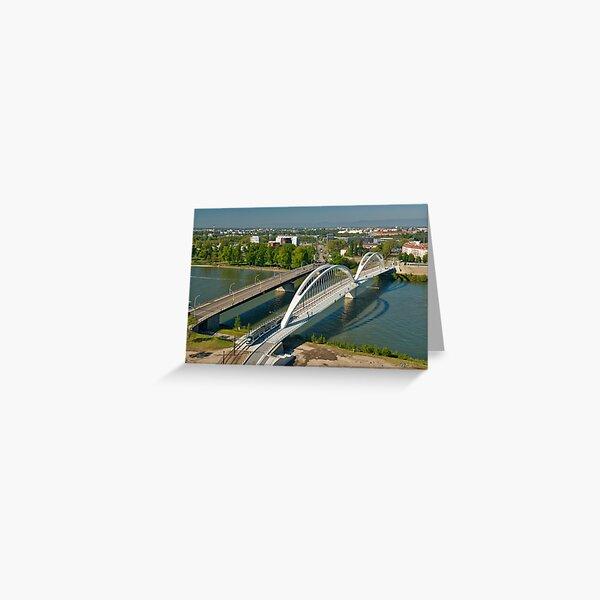 Bridges on the Rhine in Strasbourg Greeting Card