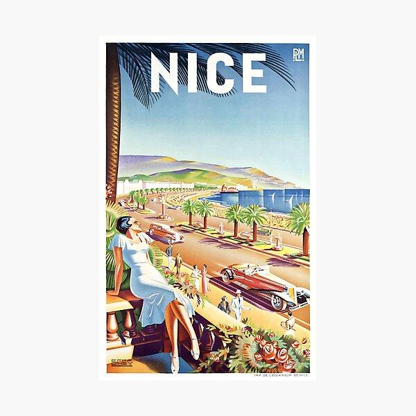 Nizza Frankreich-Reise-Plakat 1935 Fotodruck