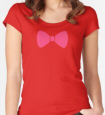 Pink Bow Women's Fitted Scoop T-Shirt