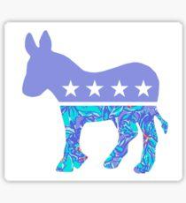 Preppy Democrat Sticker