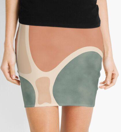 Earth Tones Shapes #redbubble #abstractart Mini Skirt