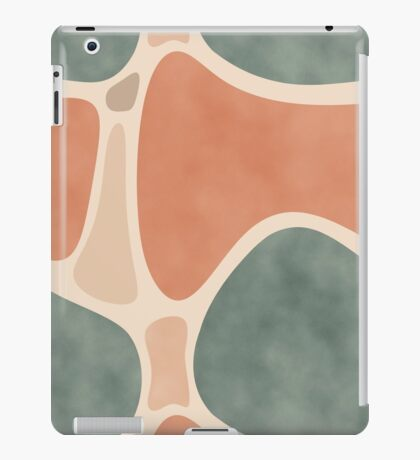 Earth Tones Shapes #redbubble #abstractart iPad Case/Skin