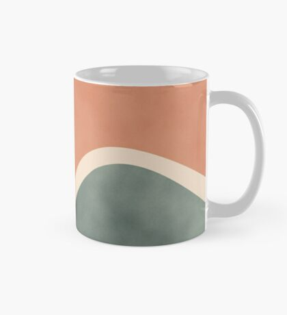 Earth Tones Shapes #redbubble #abstractart Mug