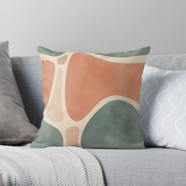 Earth Tones Shapes Throw Pillow