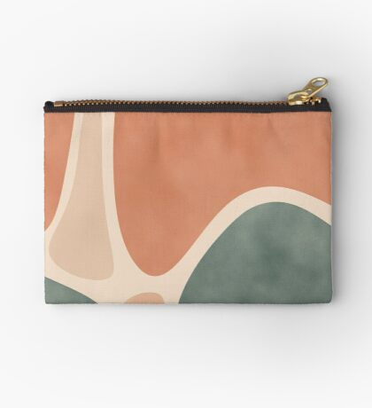 Earth Tones Shapes #redbubble #abstractart Zipper Pouch