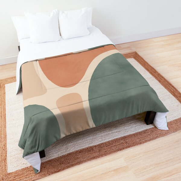 Earth Tones Shapes Comforter