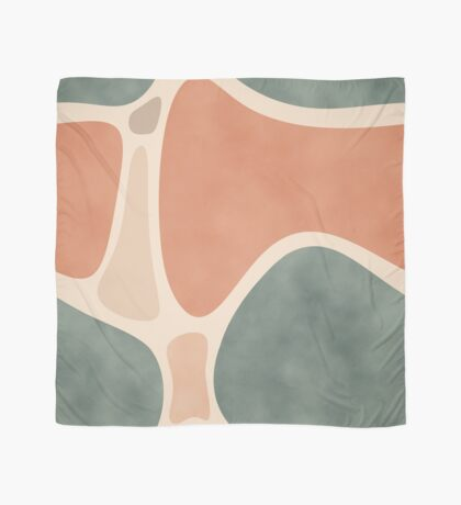 Earth Tones Shapes #redbubble #abstractart Scarf