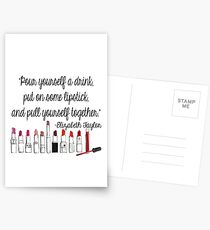 Pull Yourself Together Quote Postcards