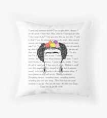 Personalised Frida Kahlo and quotes. Throw Pillow