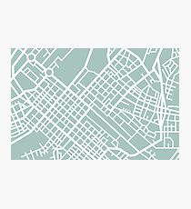 Minimal Maps (Green) - Cape Town S.A. Photographic Print