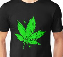 Marijuana Leaf cut to pieces Unisex T-Shirt
