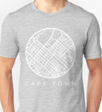 Minimal Maps (Grey) - Cape Town S.A. T-Shirt