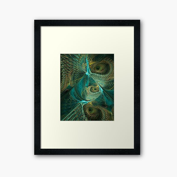 Peacock Dance - Abstract Fractal Art Framed Art Print