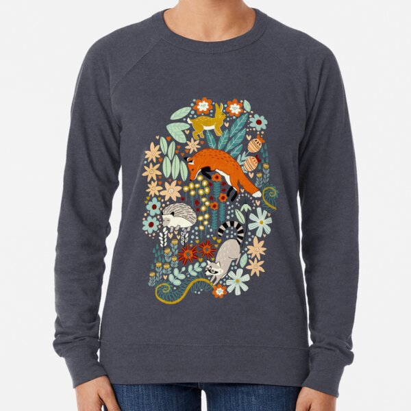 Textured Woodland Pattern  Lightweight Sweatshirt