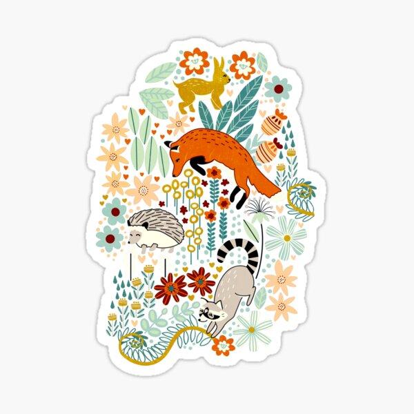 Textured Woodland Pattern  Sticker