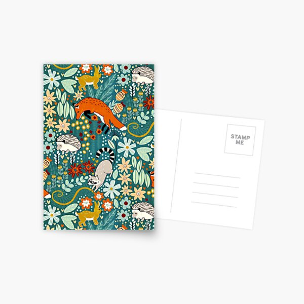 Textured Woodland Pattern  Postcard