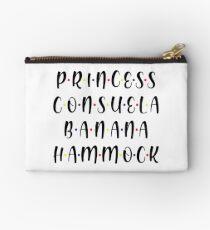 PRINCESS CONSUELA BANANA HAMMOCK Black Zipper Pouch
