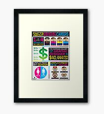 graphic design infographics Framed Print