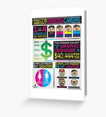 graphic design infographics Greeting Card