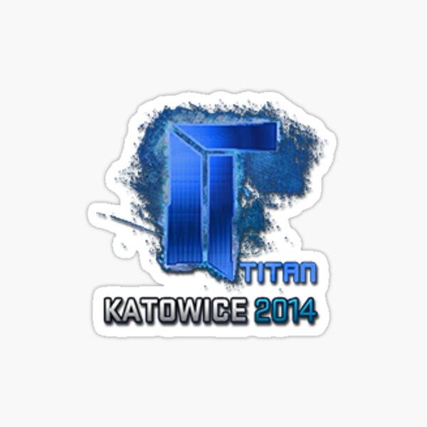 Autocollant Titan holographique Katowice 2014 Sticker