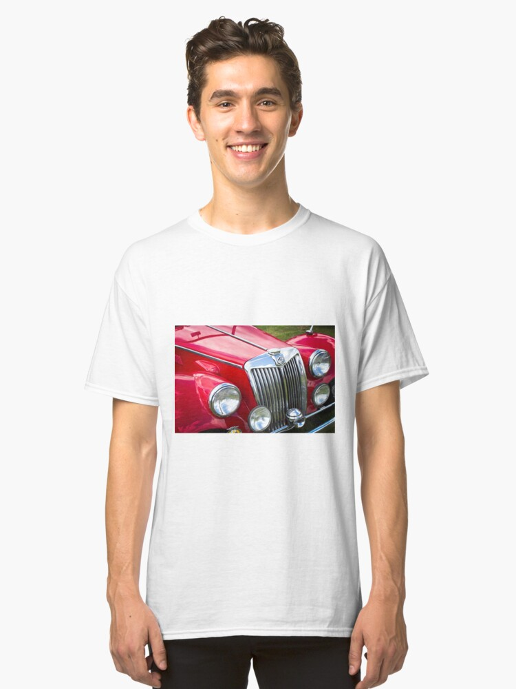 Alternate view of Red MGA Vintage Classic Sports Car Classic T-Shirt