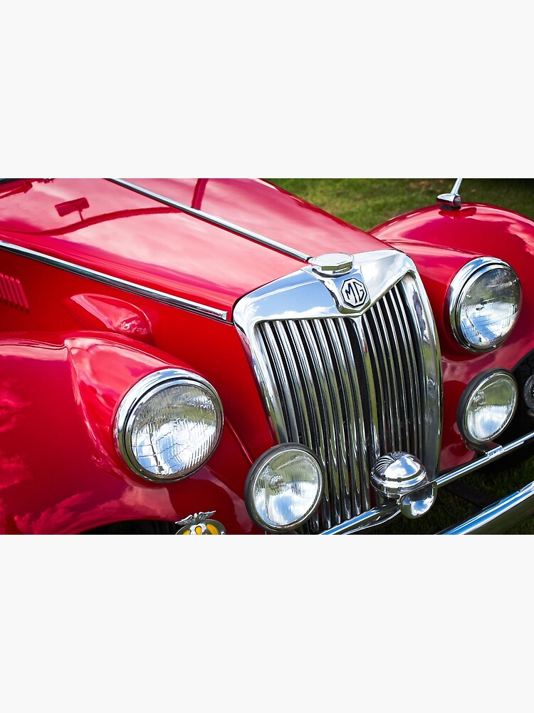 MG Classic Sports Car Front Grille Badge Photograph Picture Poster Print