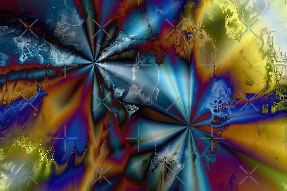 Hyperdrive: sci-fi fluid digital art by Kathryn Andersen