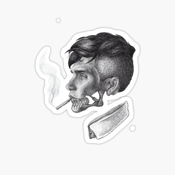 Thomas Shelby Peaky Blinders Dessin Sticker
