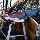 distressed foot stool - Brooklyn by Caroline Pugh