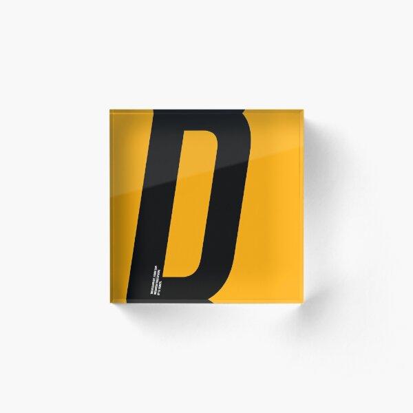D sign Acrylic Block