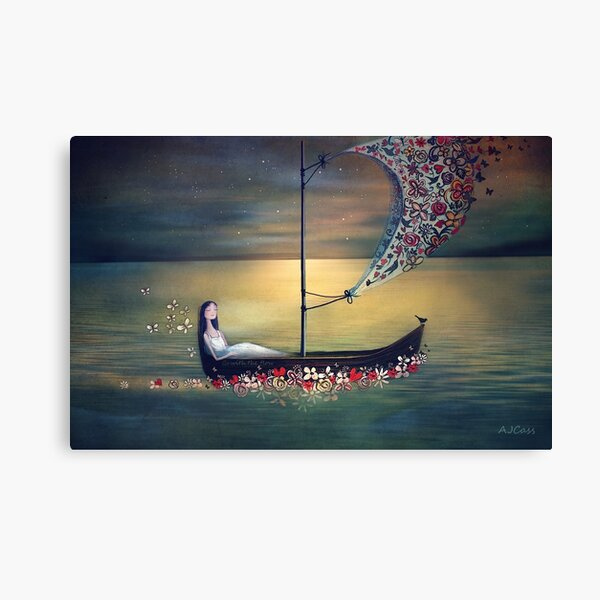 Go with the flow Canvas Print