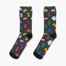 Video game controller background Gadgets seamless pattern Socks