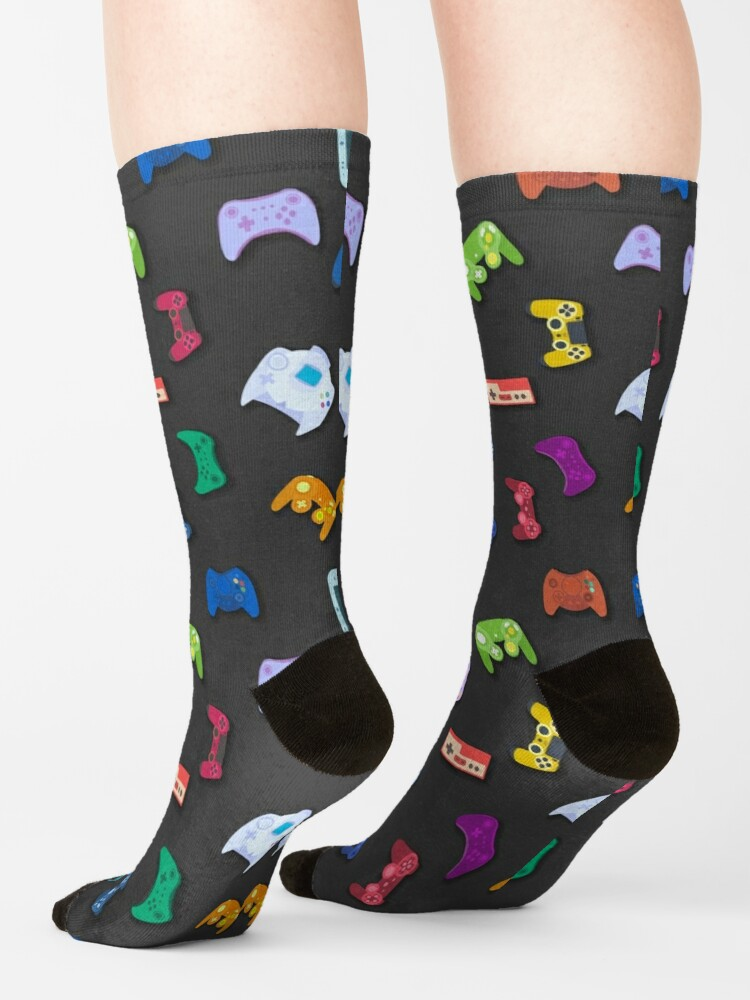Alternate view of Video game controller background Gadgets seamless pattern Socks