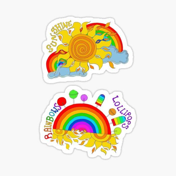 Kawaii Sunshine, Lollipops and Rainbows  Sticker