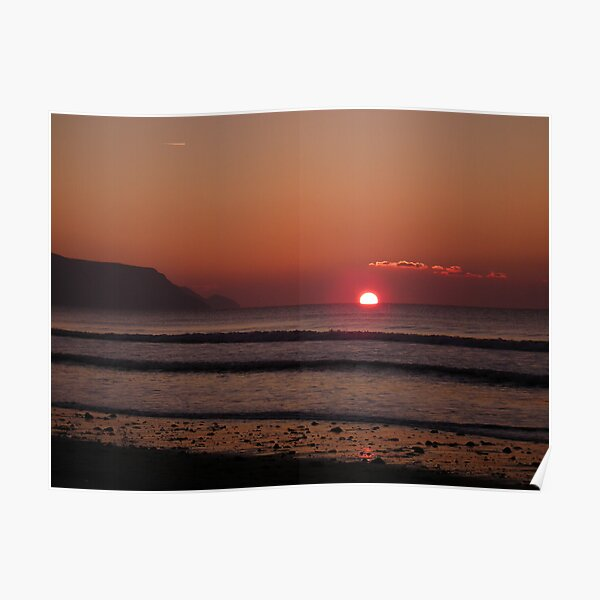 Cornish Sunset 02 Poster