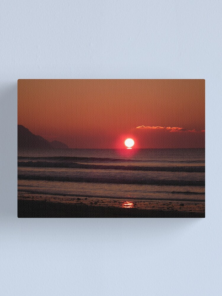 Alternate view of Cornish Sunset 03 Canvas Print