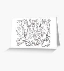 Life Drawing Compilation Greeting Card
